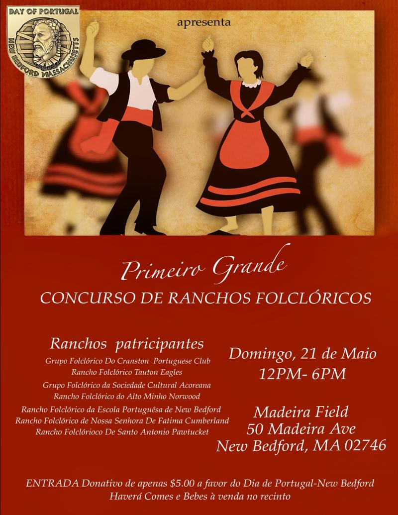 Folkloric Competition May 21 at Madeira Field New Bedford